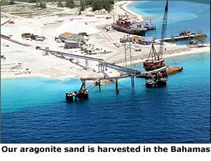 aragonite no-silica sand