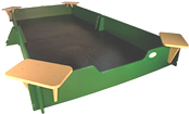 silica free sand goes great with these sandboxes